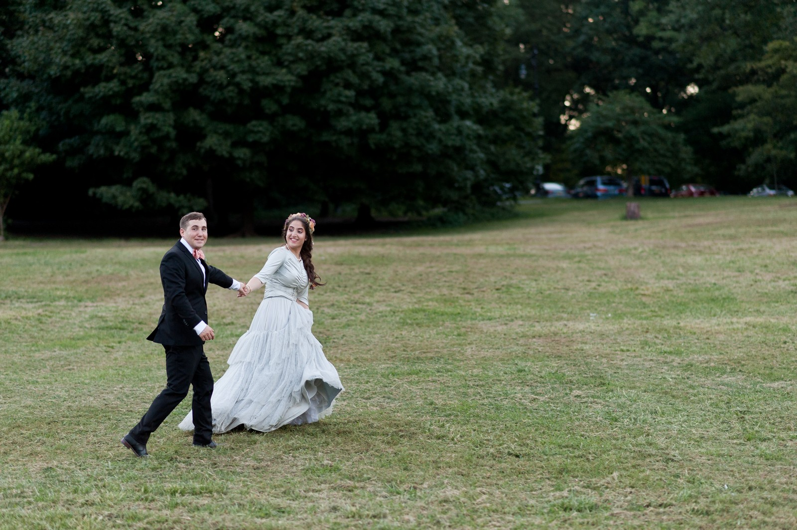 Chana and Motty's Chabad Jewish Wedding in Prospect Park Picnic House, Brooklyn, NY, Photos by Chaim Schvarcz bride groom portraits ceremony family