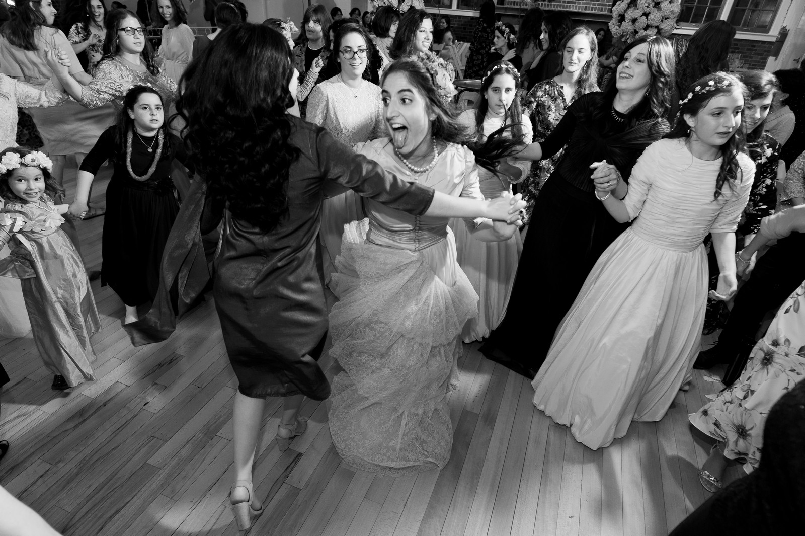 Chana and Motty's Chabad Jewish Wedding in Prospect Park Picnic House, Brooklyn, NY, Photos by Chaim Schvarcz bride groom portraits ceremony family dancing