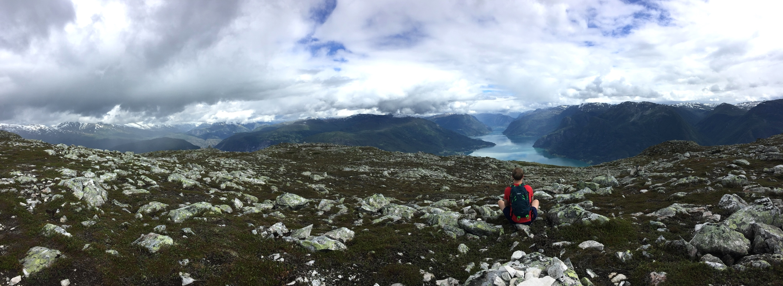 Panoramic view from the top of Molden.
