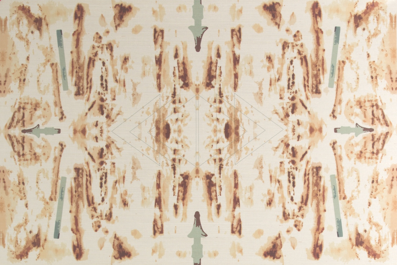 A closer look at Sepia Grasscloth