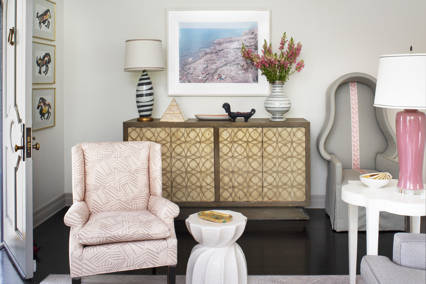 The ultimate compliment: Designer Melissa Warner Rothblum incorporates Miramar fabric in her own home. Photo credit: Grey Crawford