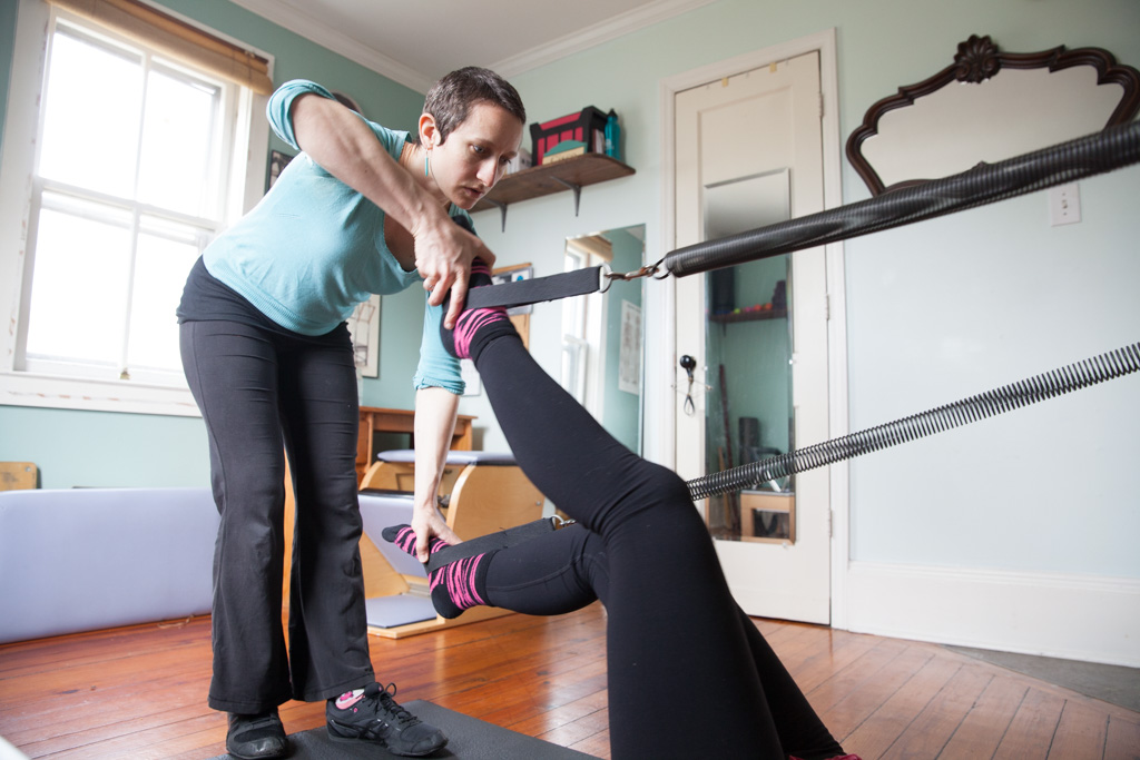 Leg springs are a great way to tone your bottom, inner/outer thighs, and abdominals
