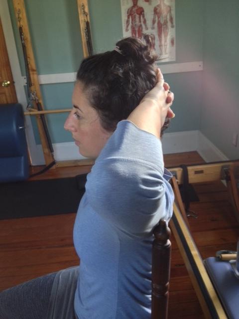Upper back and neck strengthener