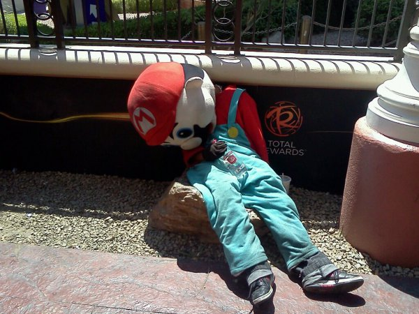 Mario went to a really dark place after that breakup with the Princess