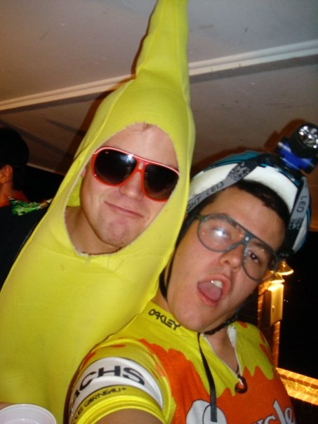 One dude is a banana. The other is a dude that has to wear a banana hammock. We see what you did there.