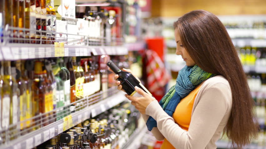"""What's this bottle of wine doing on the shelf in the liquor aisle? Maybe it's a sign I should try beaver tonight!"""