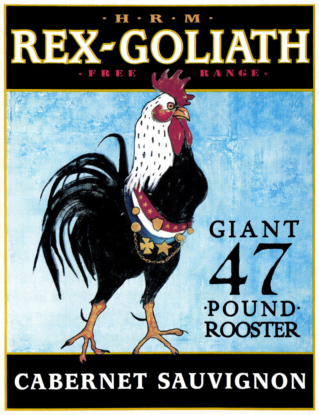 A 47 pound cock joke is too easy, so we submit this label without comment.