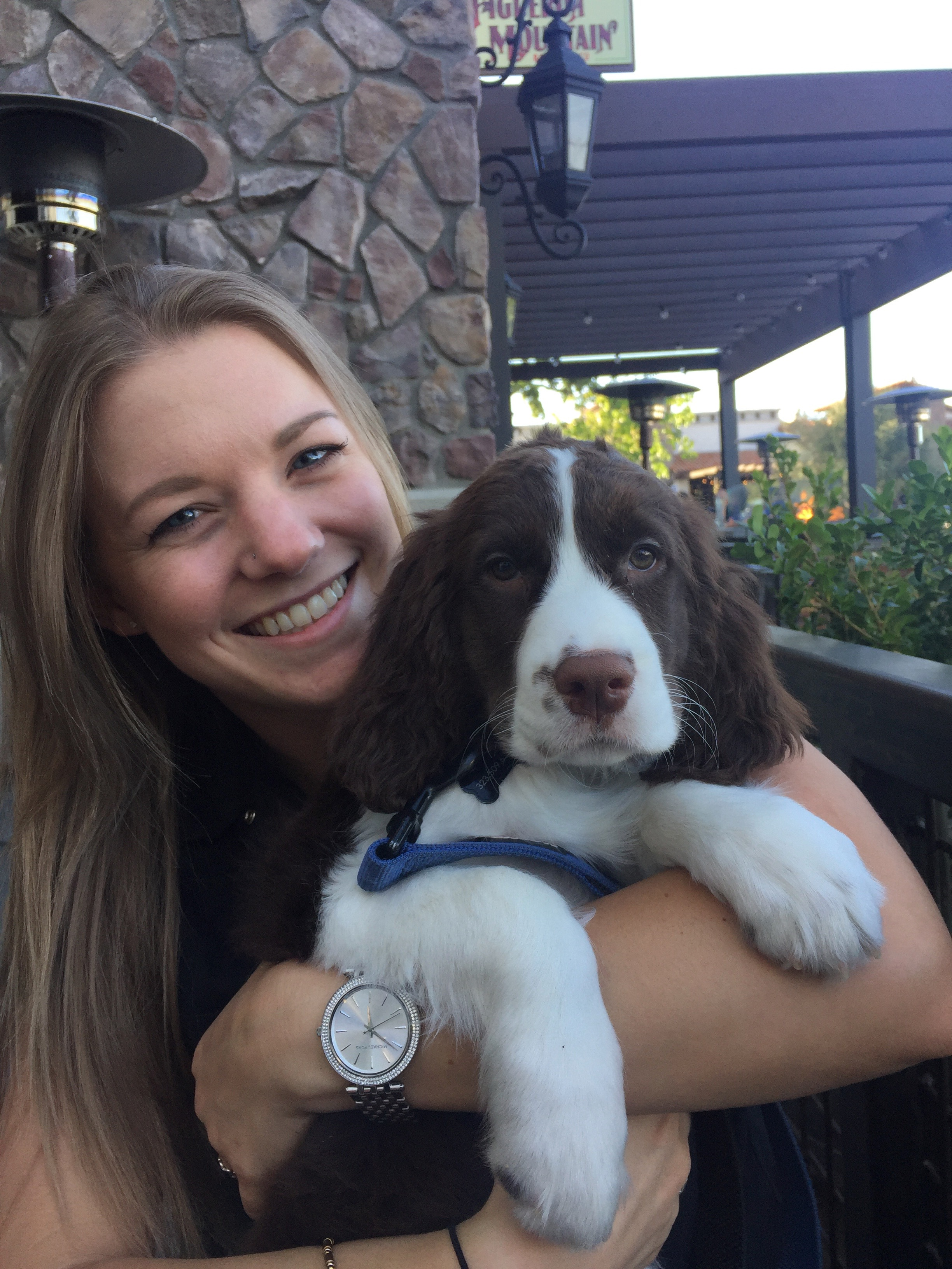 A 10 week old Darby and FigFam at the Westlake Village Taproom