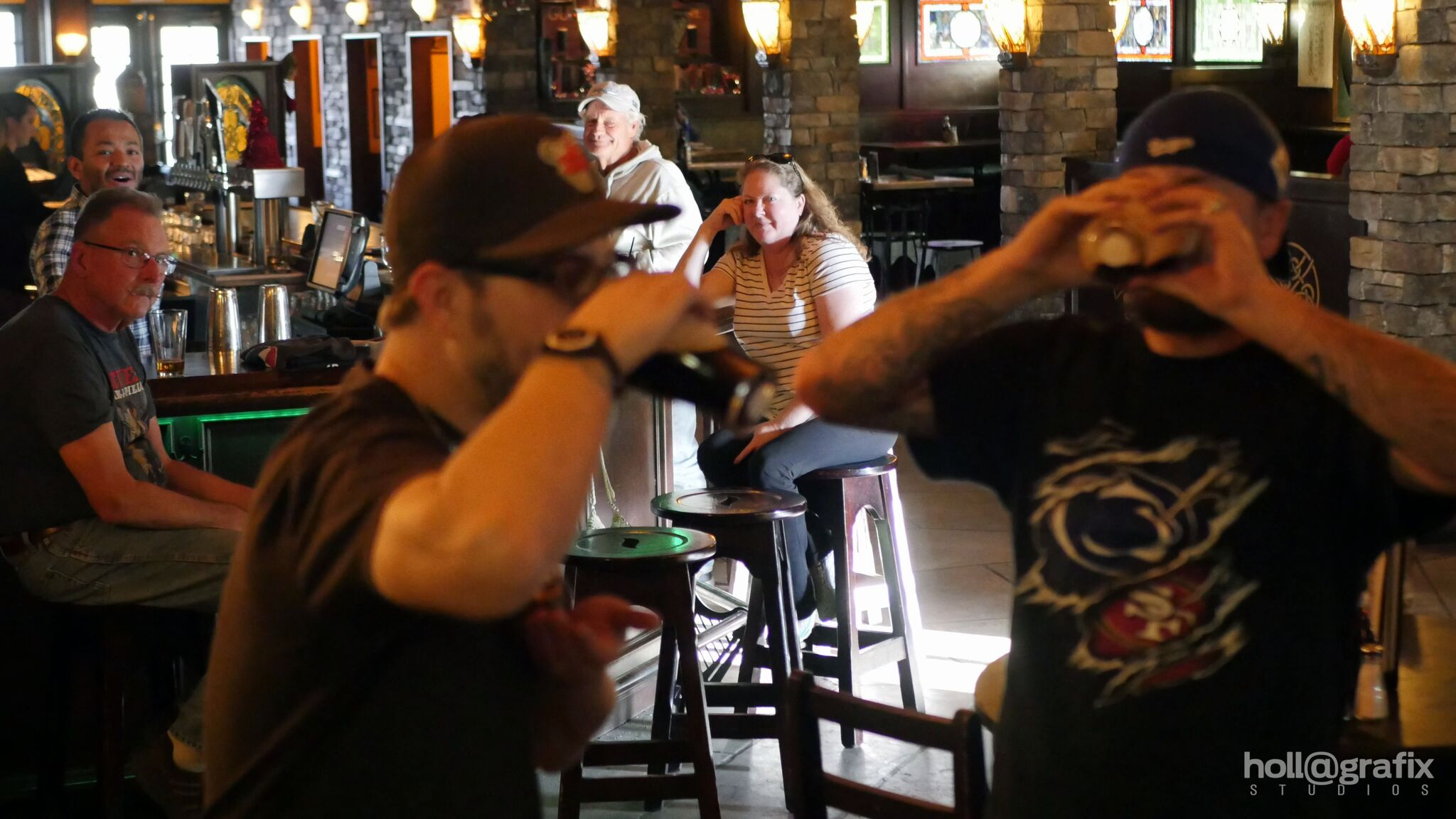 The Guinness Pint-Off. Congrats to Pat! Er, sorry, MATT, for crushing that pint in mere seconds