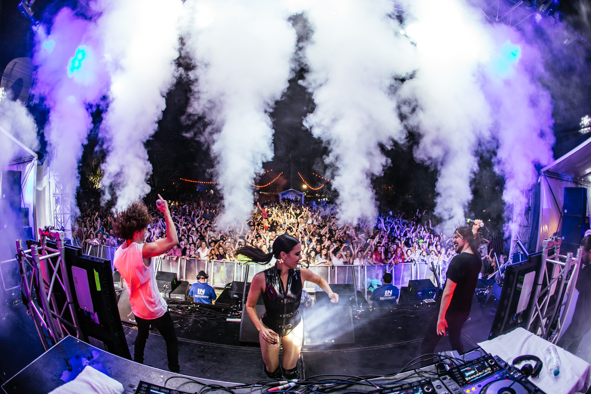 George Maple joining the party with Peking Duk.