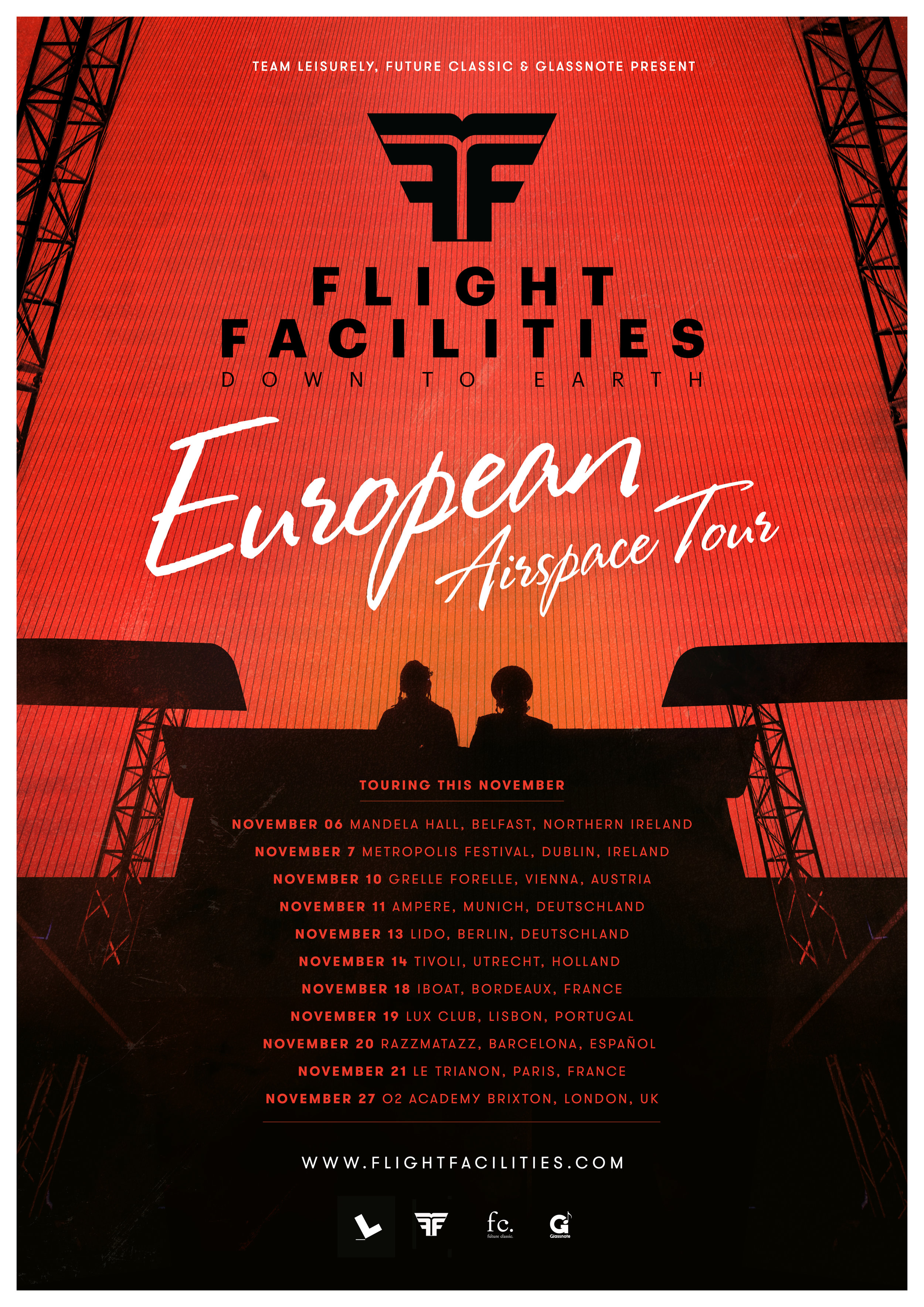 Commissioned image for Flight Facilities European tour poster.