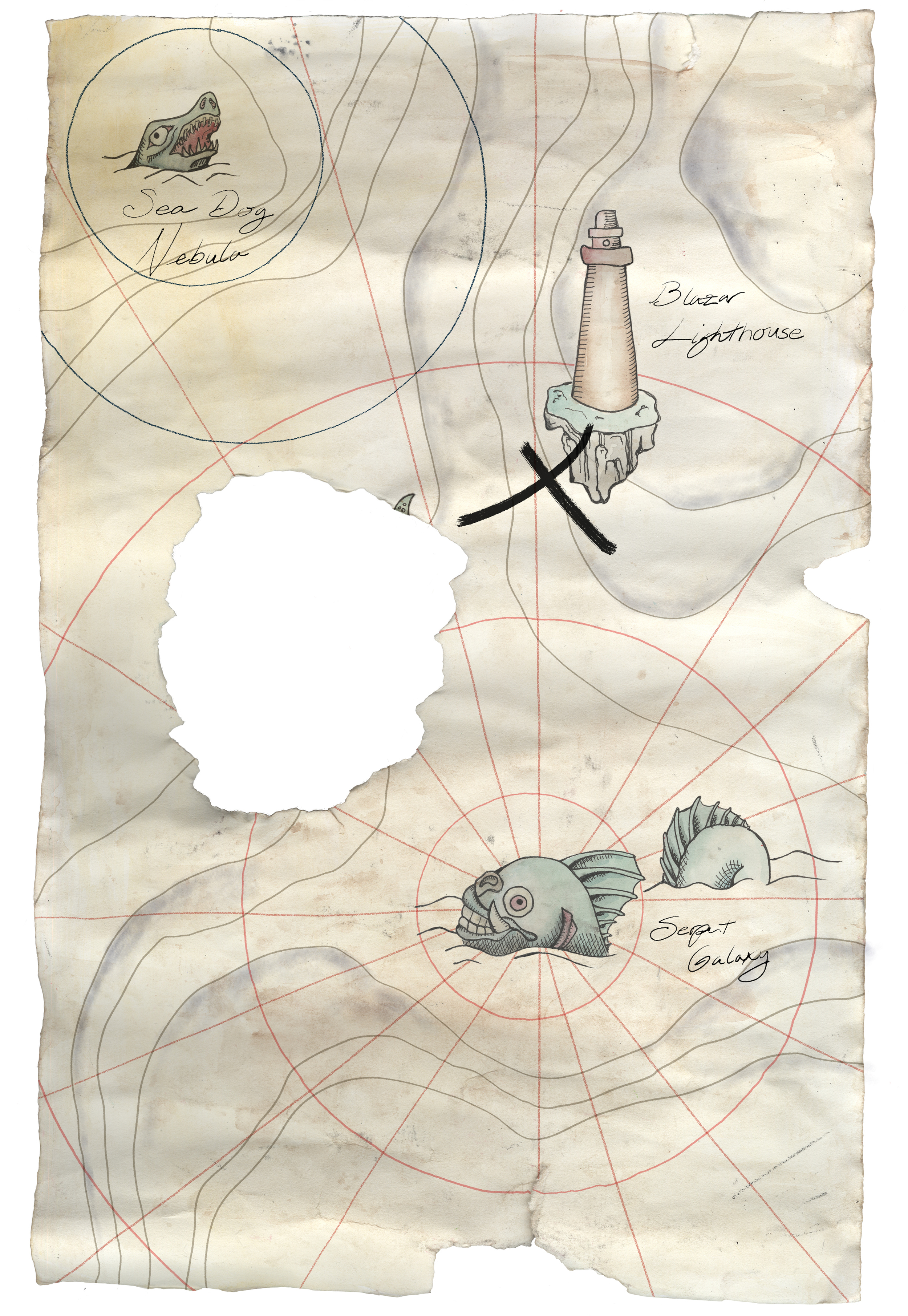 Space Pirate Treasure Map