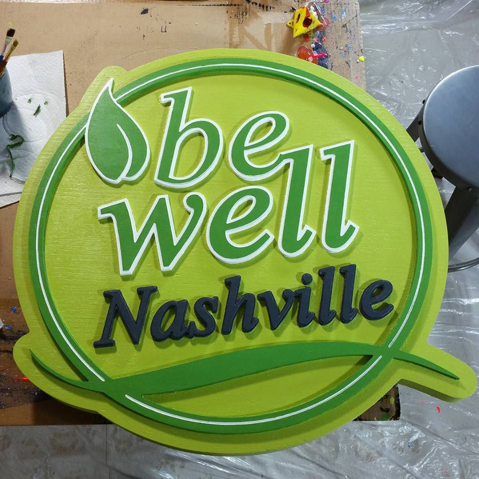 Be Well Nashville   East Nashville, Tn   2'x2'   Eucalyptus