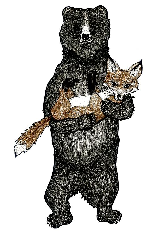 Bear Love Gives Zero Fox | Commission   Illustration  Prints available