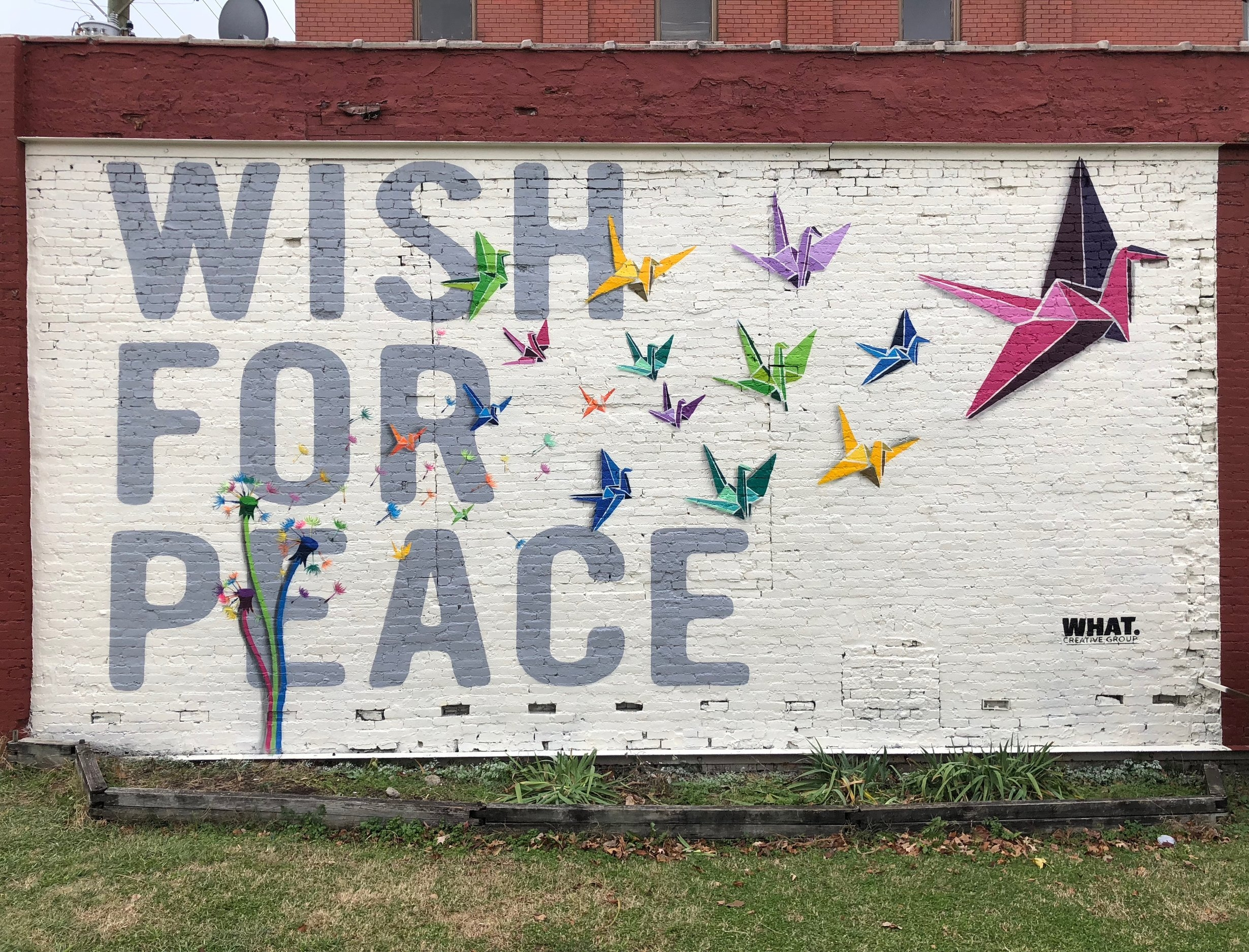 Wish For Peace -  4822 Charlotte Ave  Commissioned by Google Fiber and Nashville Walls Project  28' x 14'