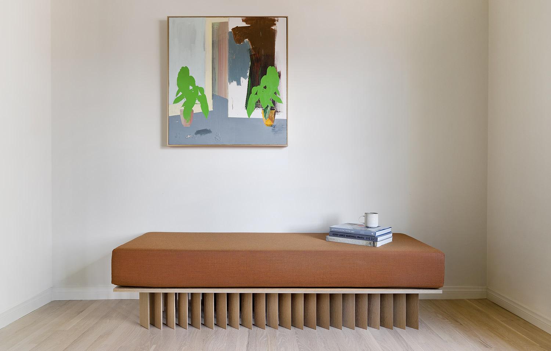 Angled Wood Bar Bench: Large