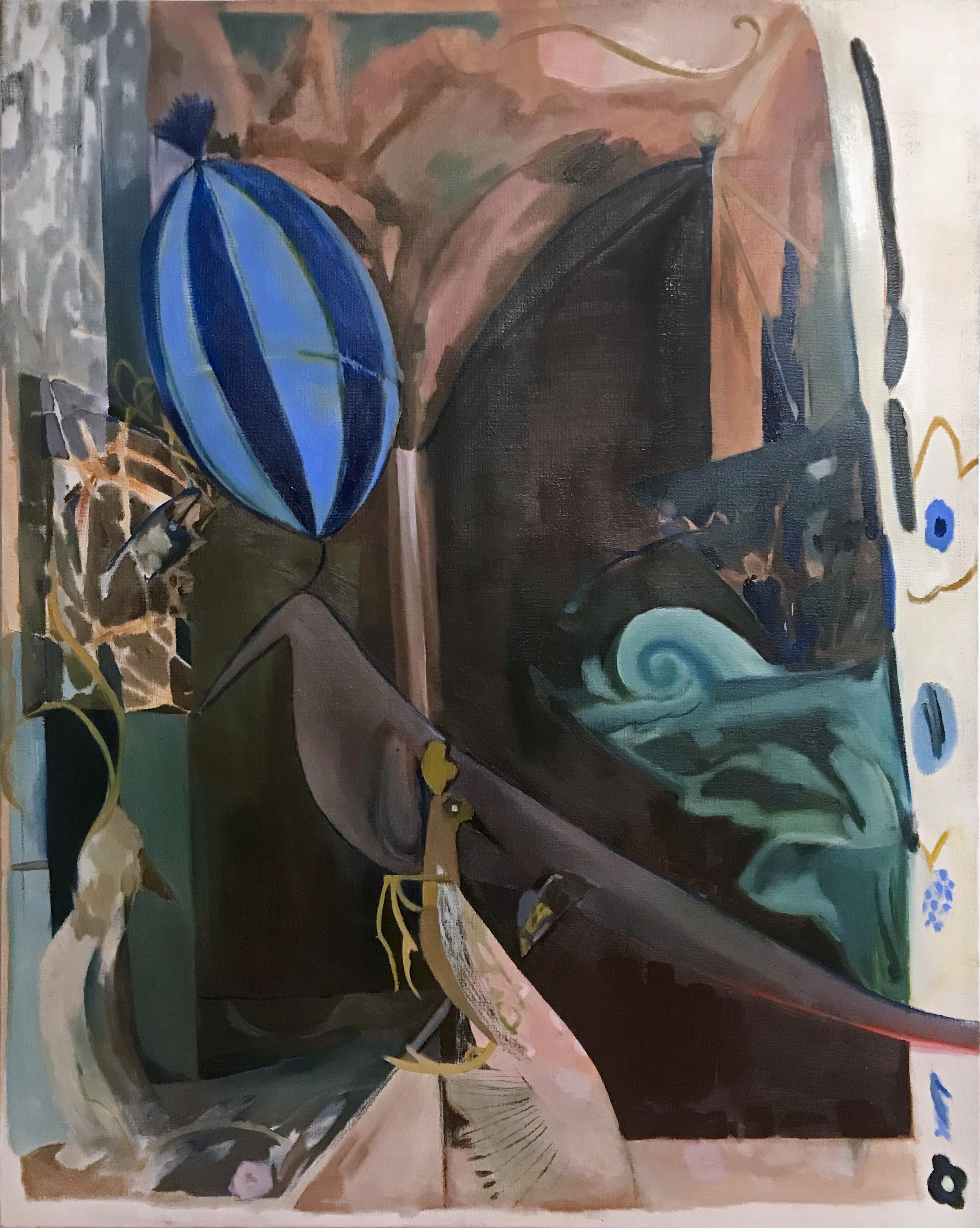 The Joggler, oil on canvas, 125 x 155 cm, 2019.