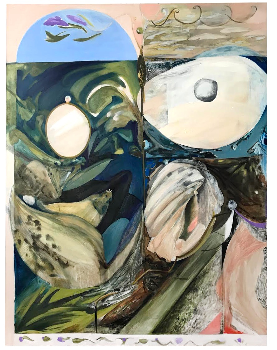 Carapace, oil on canvas, 131 x 171 cm, 2019.