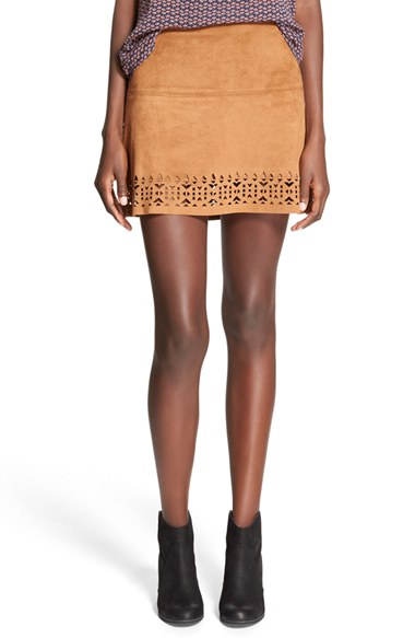 Tan Laser Cut Skirt.jpg
