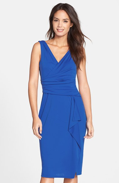 Adrianna Papell Ruched Jersey Dress.jpg