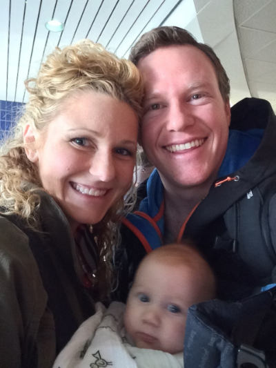 Our first airport family selfie!