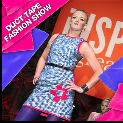 Created this dress for client out of 3M Scotch Brand duct tape for fashion show in Las Vegas