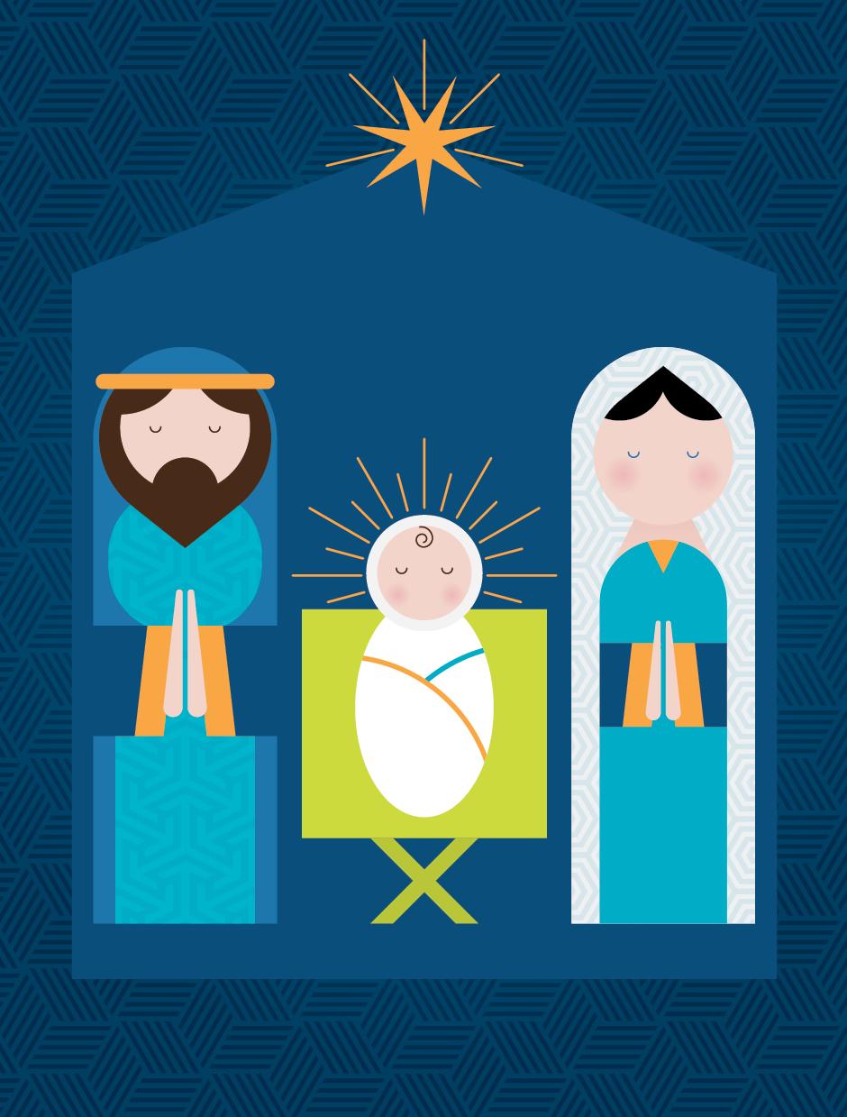 Christmas card illustration, 2014