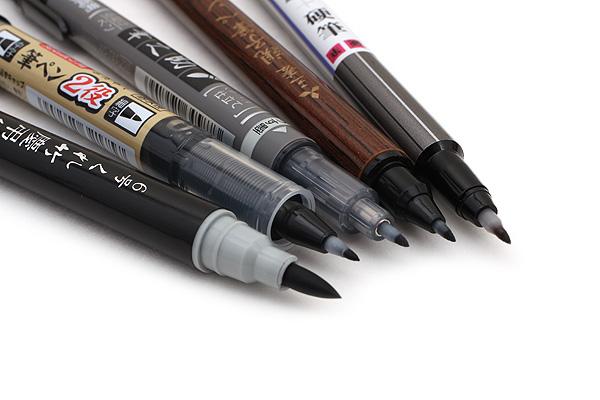 Double-Sided Brush Pen Sampler (set of 5 brush pens) from Jetpens
