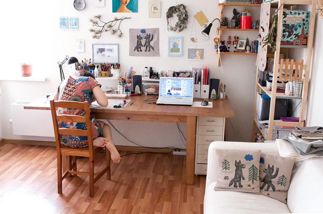 Olga's studio -Source:ezovadenisova.ru