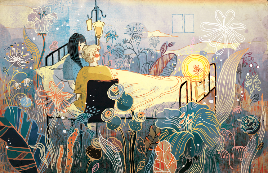 Living in the Moment, Sarah Lawrence Alumni Magazine  - Source: victo-ngai.com