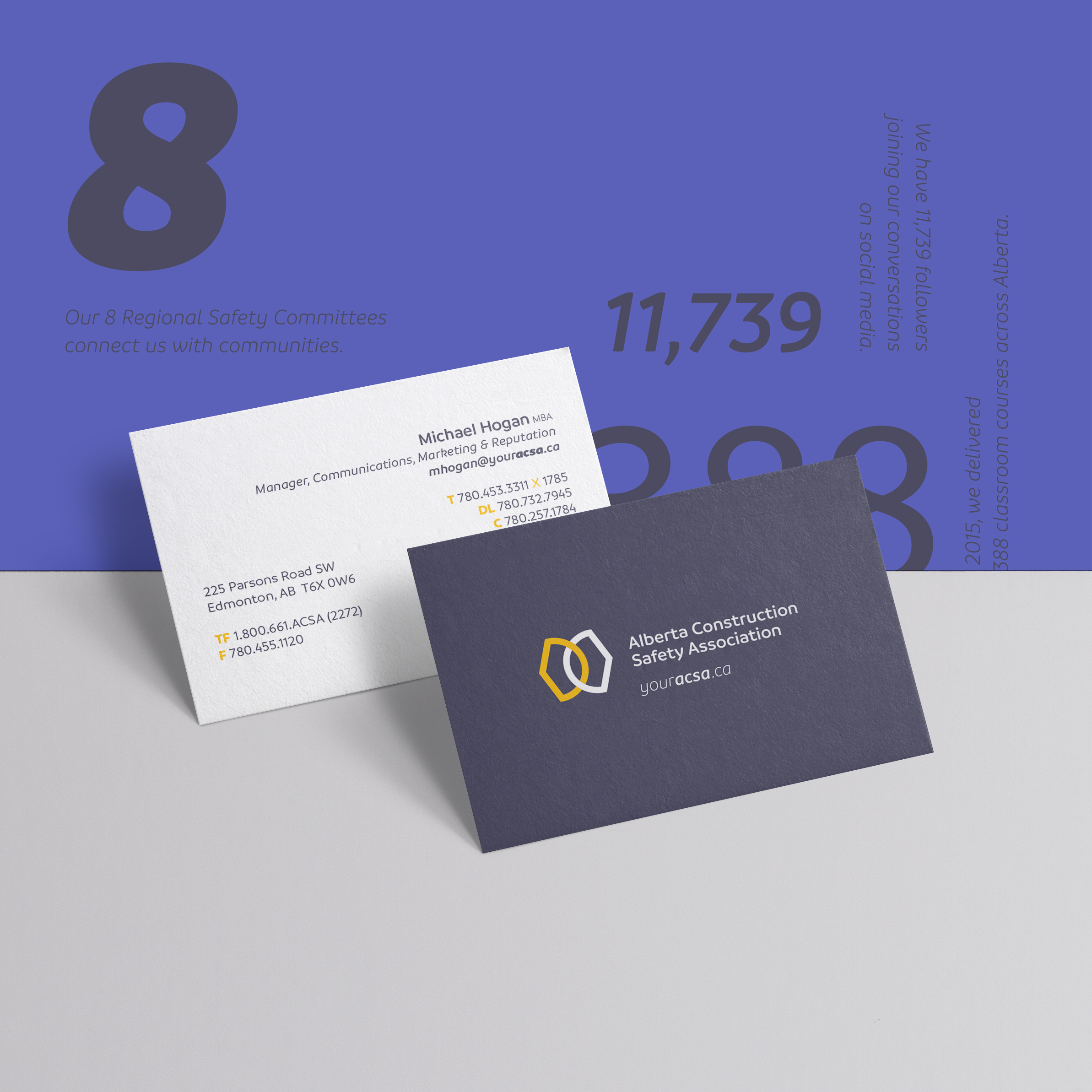 Business card detail
