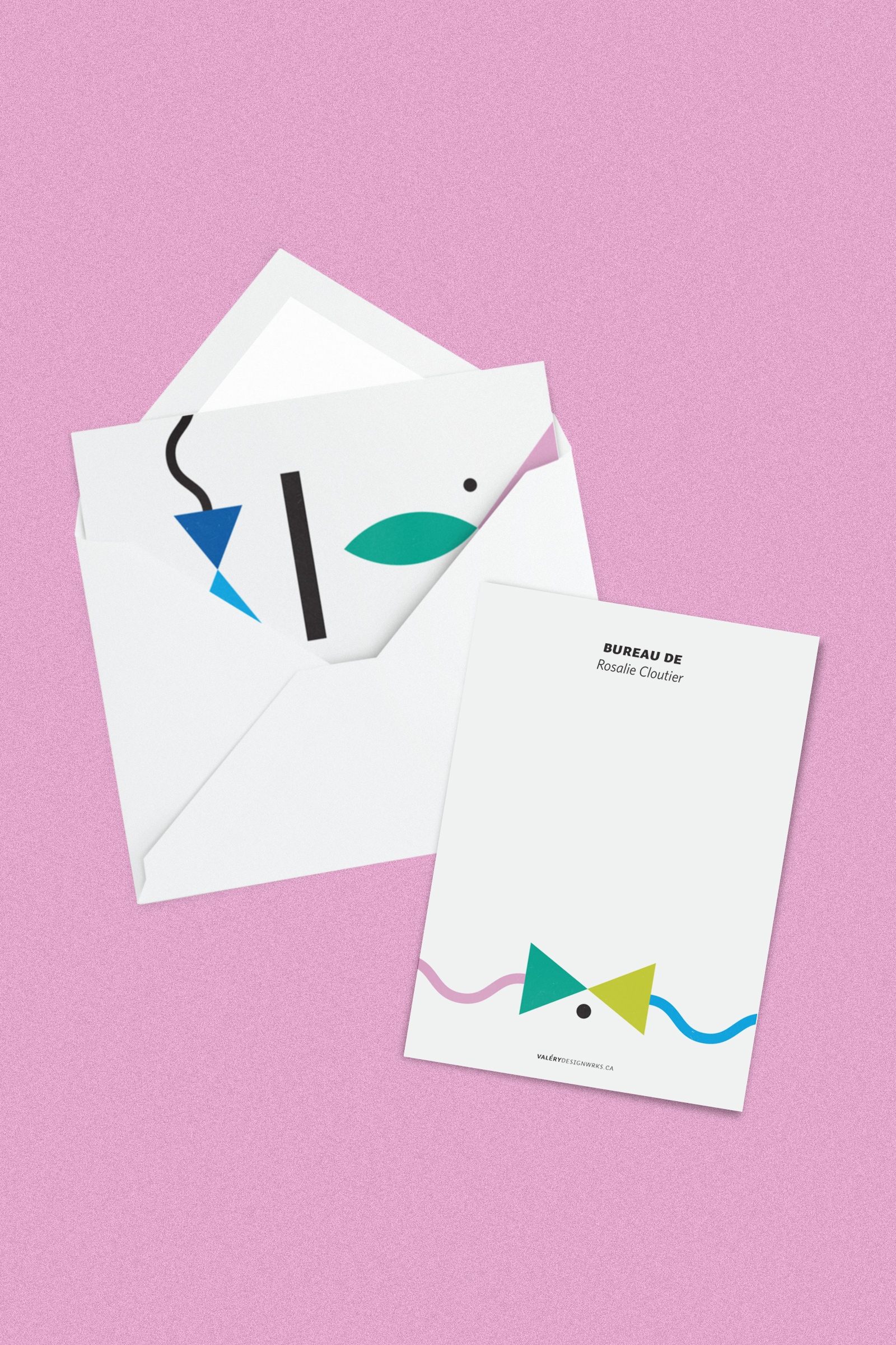 Personalized stationery in French
