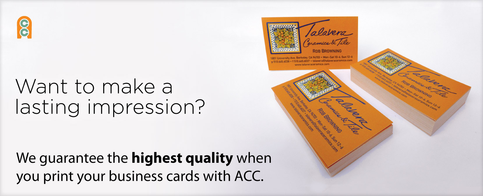 Custom designed business cards on your choice of paper stocks.