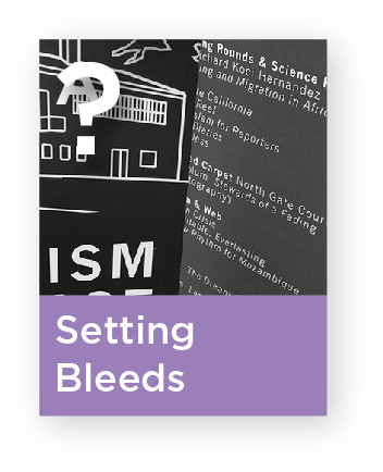 How do I set bleeds for my printer?