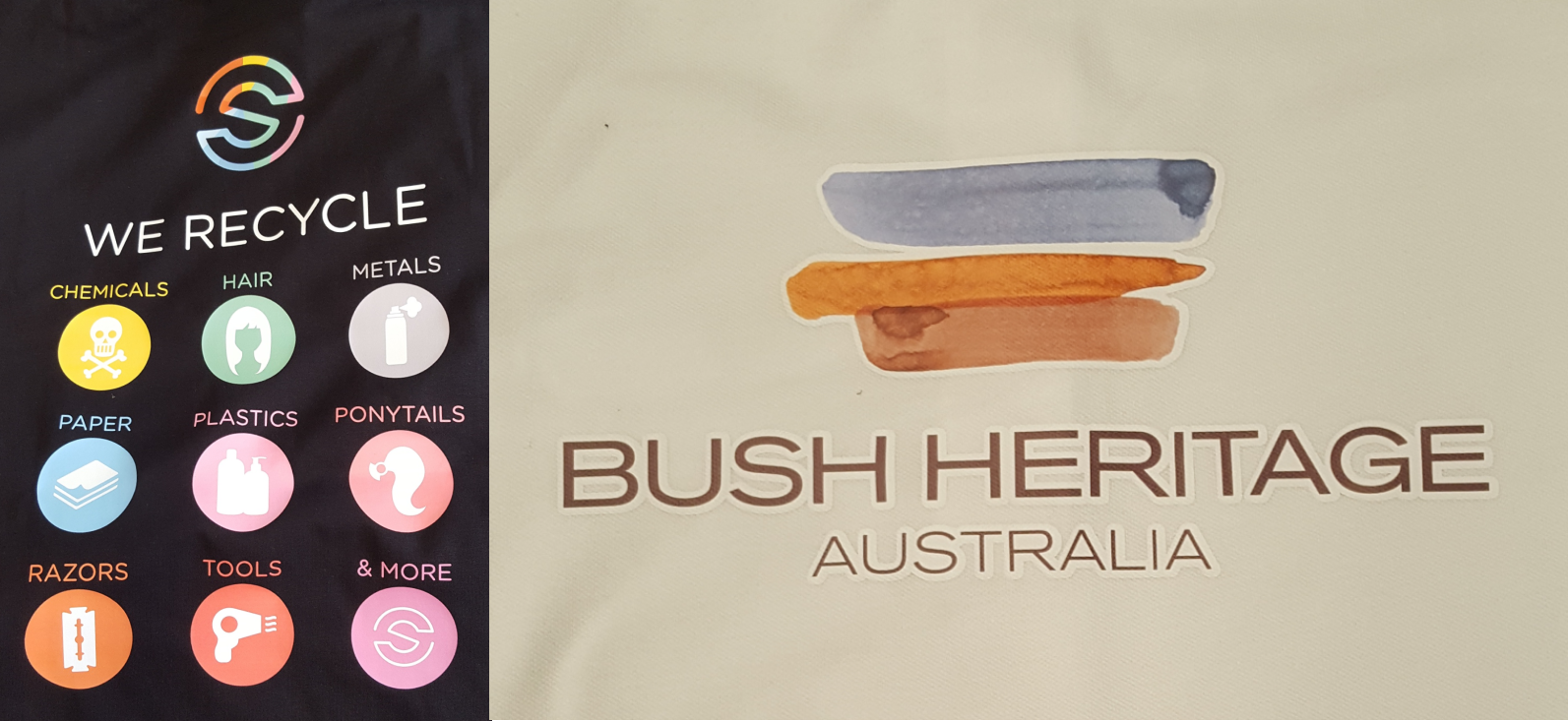 These two jobs WEre done for SUSTAINABLE SALONS AND BUSH HERITAGE, both using digital transfer technology.