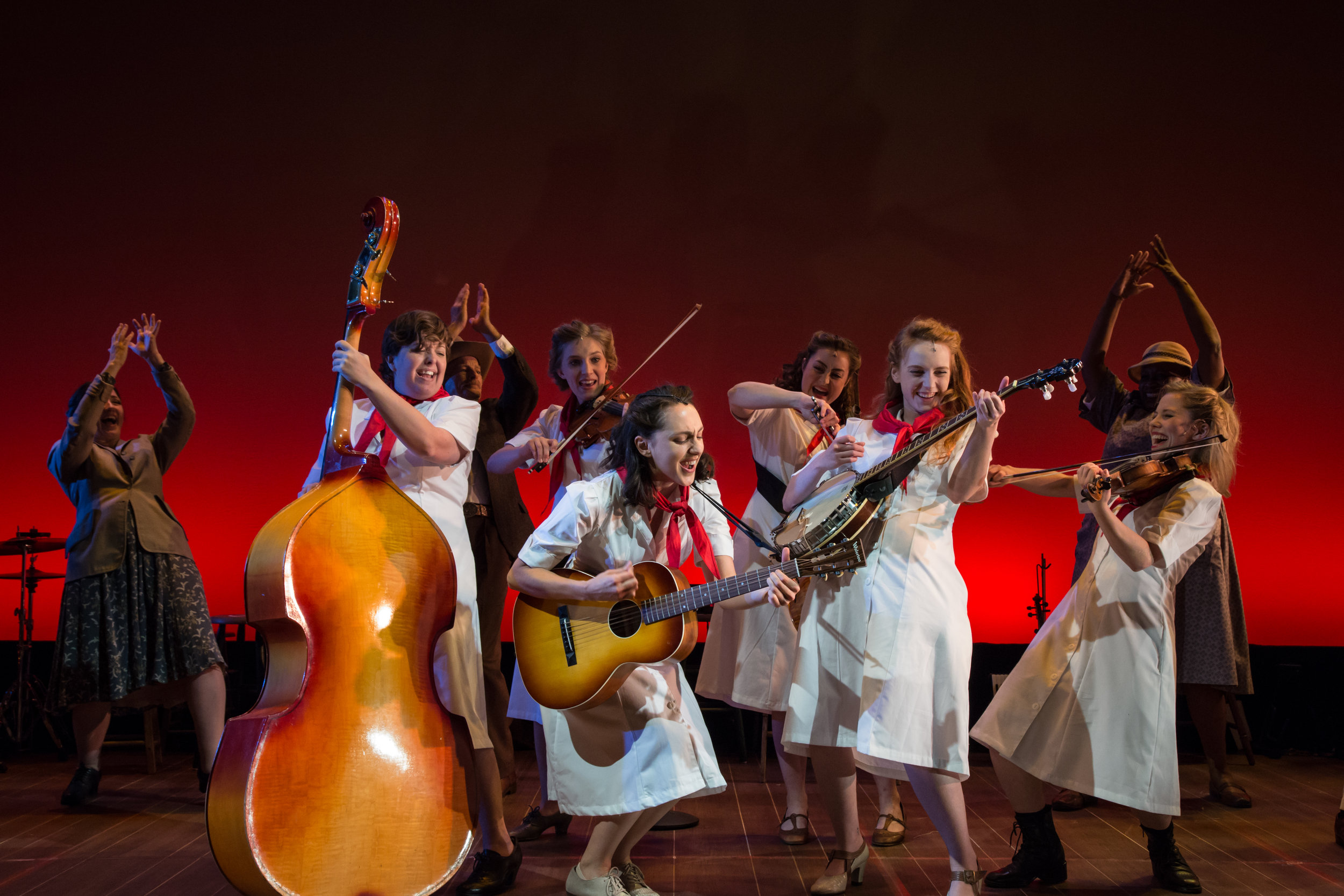 The cast of  The Goree All-Girl String Band , directed by Ashley Brooke Monroe. (© Shira Friedman Photography)