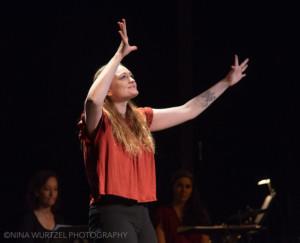 (Amelia Hensley as Orella in Stepchild at IRT  photo by Nina Wurtzel)