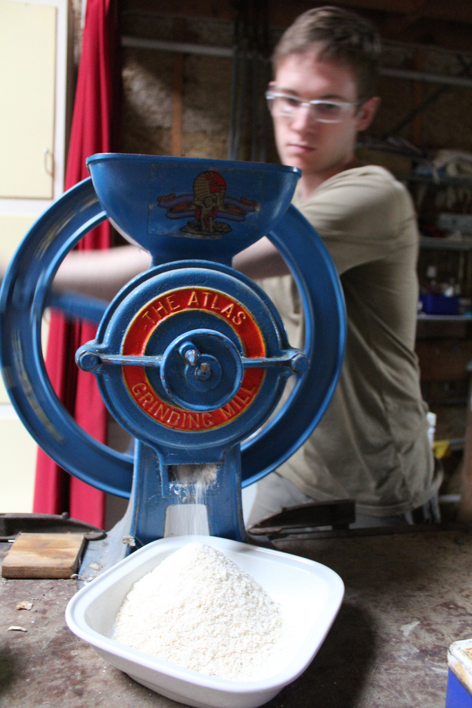 Hand-grinding is much more fun on a beautiful, vintage mill.