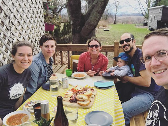 spring. friends. delicious things. pagan things. herbal tarot. rock identification. tinyhouse photobomb. babies eating leaves. remembering family traditions. setting new ones. happy, happy y'all.  #itsnotforeaster #itsforspring #because #sun