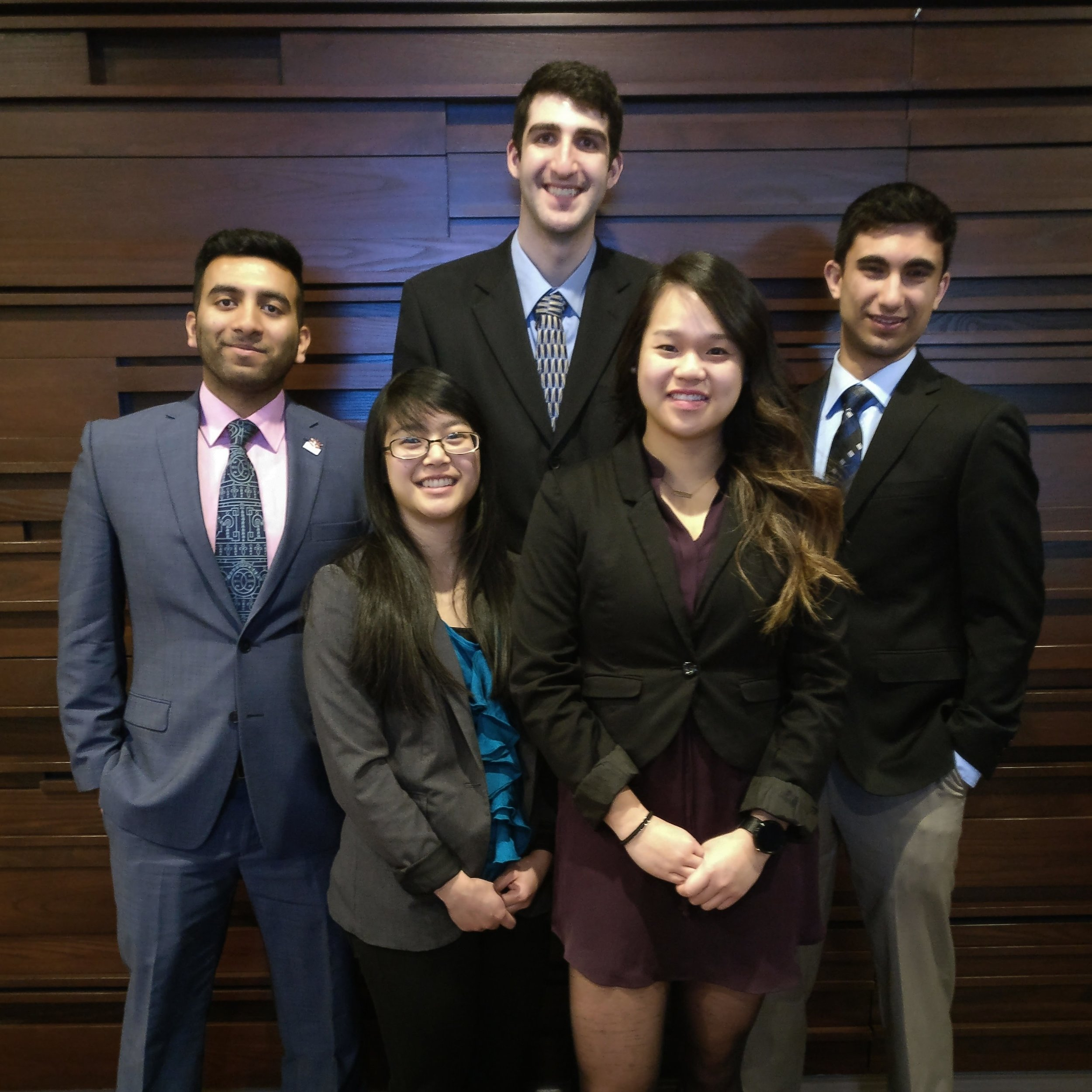 McMaster team members that attended the conference. From left to right, Farazdak, Chelsea, Eric, Erica, and Eric.