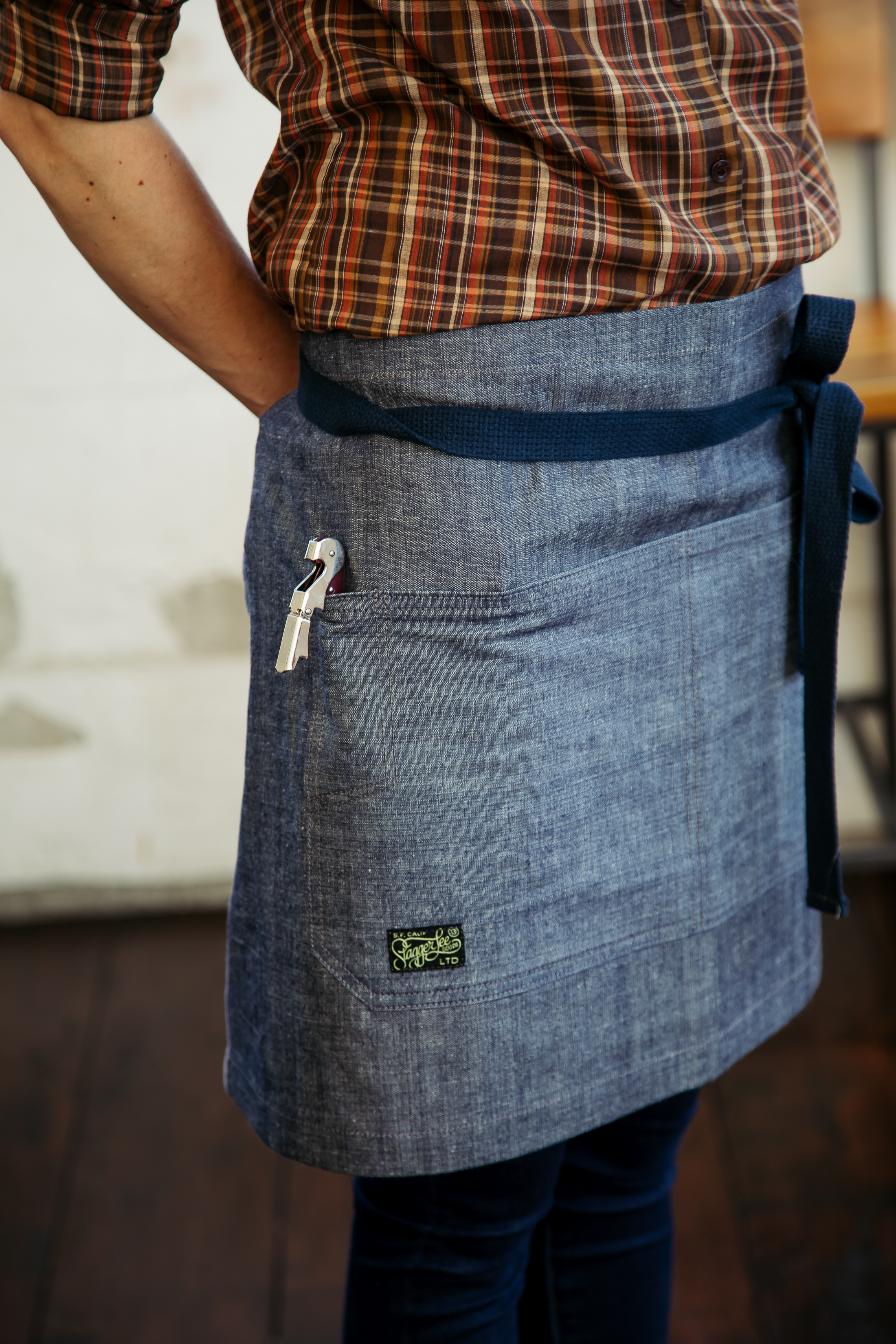Shortie Apron // Chambray -