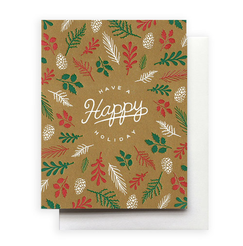 Simply Gifted:  Classy holiday card by Hammerpress Letterpress. Simply Gifted:  Classy holiday card by Moglea.