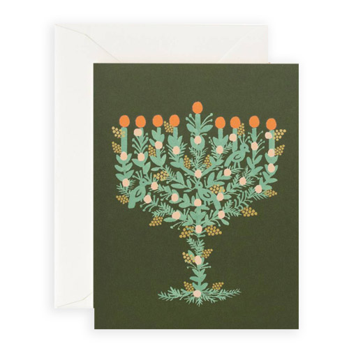 Simply Gifted:   Classy Hanukkah card by Rifle Paper Co.