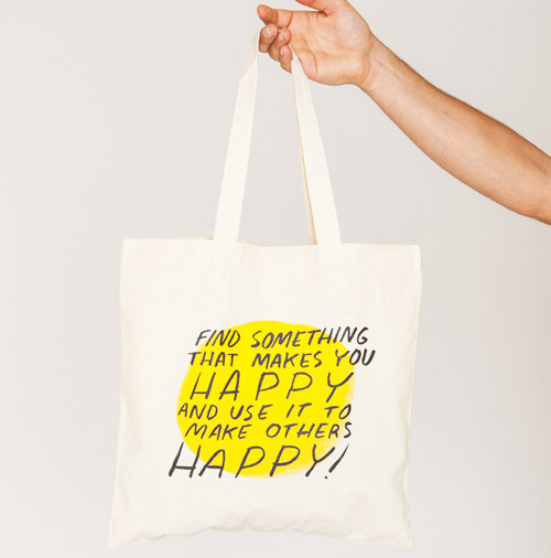 Simply Gifted:  Tote roundup featuring this tote by Dallas Clayton. Easy gift idea and gift wrap idea.