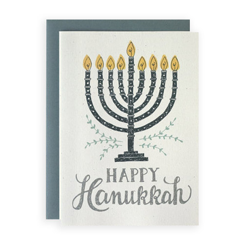Simply Gifted:   Classy Hanukkah card by Wit and Whistle.
