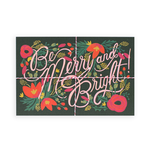 Simply Gifted: Holiday Boxed Set card roundup featuring this card by Rifle Paper Co.