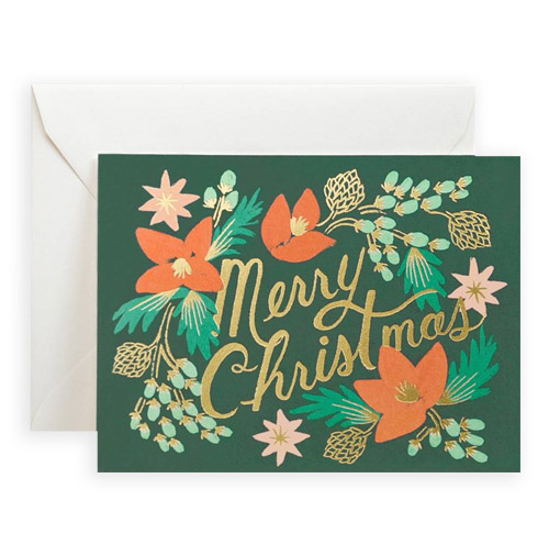Simply Gifted:  Classy Christmas card by Rifle Paper Co.