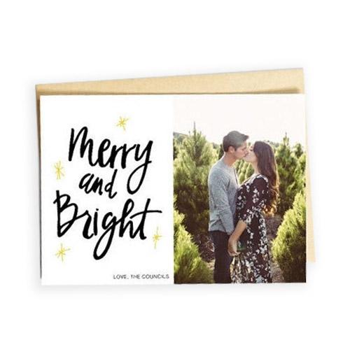 Simply Gifted:  Custom photo card by Teeny Weenie Paper Co.