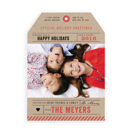 Simply Gifted:  Custom photo card by Minted.