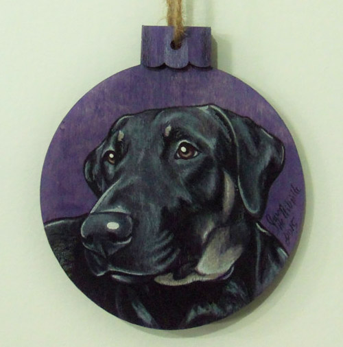 Simply Gifted:  Custom wooden pet ornament by Sam Heltibridle.